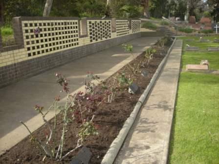 Cemetery Niche Wall Rose Garden