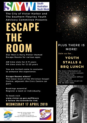 Escape room flyer image