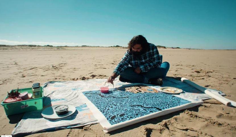 Cedric Varcoe beach art