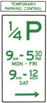 Temporary Parking Zones