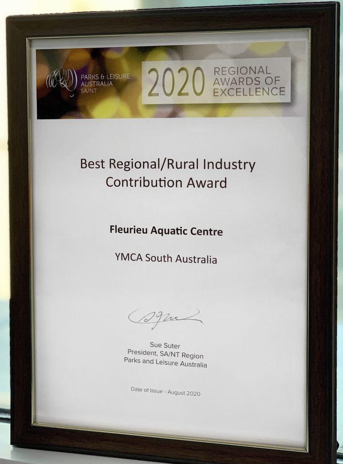 Fleurieu Aquatic Centre PLA Award