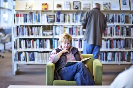 Woman reading at Victor Harbor Library