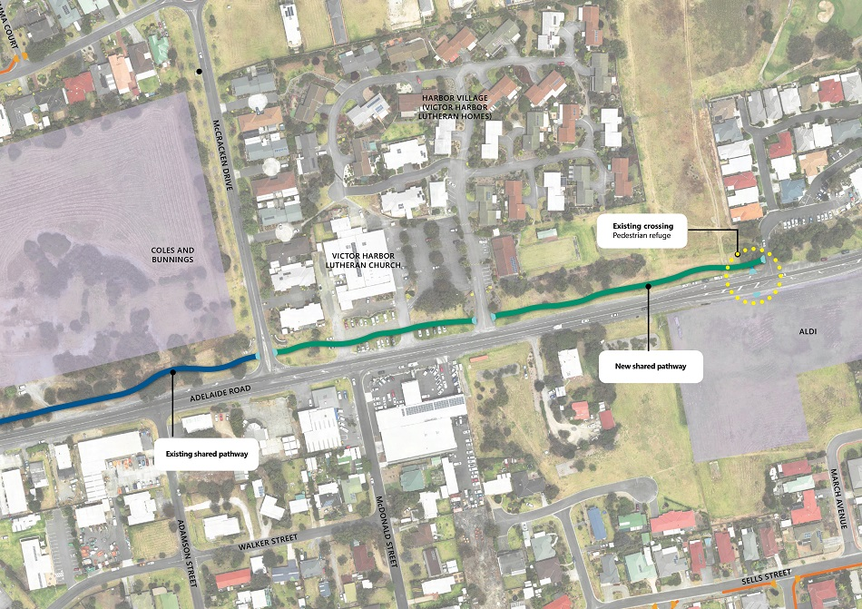 Project Map - Adelaide Road Shared Pathway