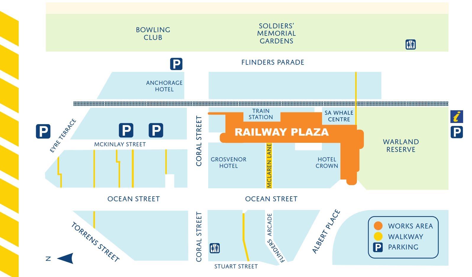 Railway Plaza Map