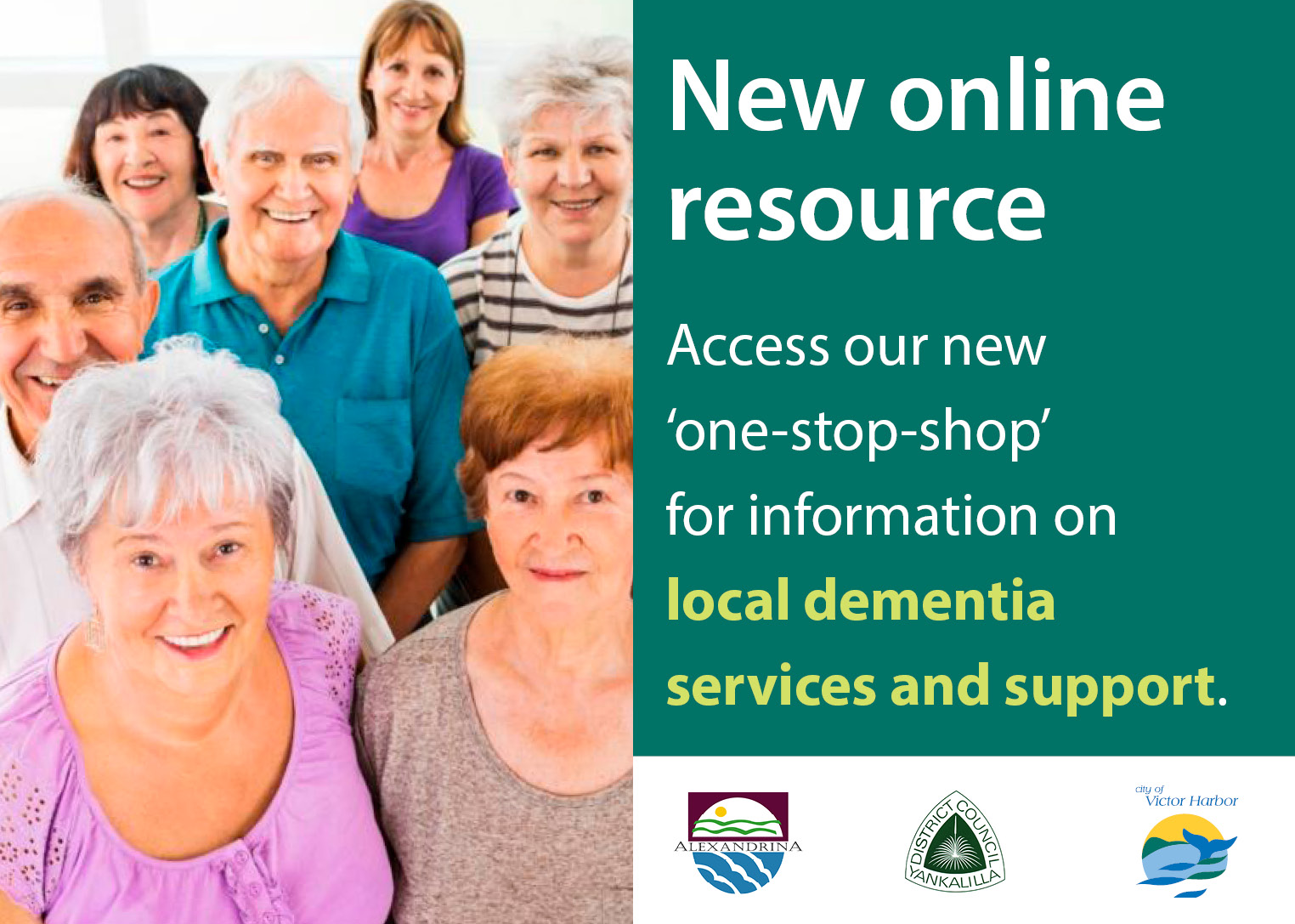 People in the community promotion of new online resource for dementia information